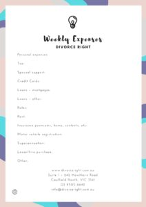Weekly expenses